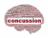 image of injury  - Concussion traumatic injury icon design - JPG