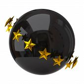 Black sphere with stars
