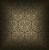 Luxury Brown Floral Background