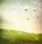 Butterflies In A Fantasy Landscape