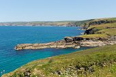 Cornish coast Port Isaac direction of Tintagel Cornwall England UK