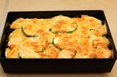 Courgette Potatoes Or Potato Au Gratin