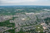 Aerial View Over A Residential Suburb
