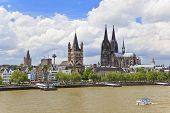 Cologne Cathedral and Great St. Martin Church