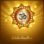 stock photo of pooja  - stylish vector hindu raksha bandhan festival background - JPG