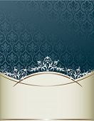Royal vintage cover in editable vector format