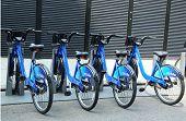 Citi bike station in Manhattan
