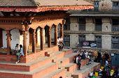 People Resting At Durbar (Royal) Square,Kathmandu,Nepal