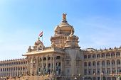 picture of vidhana soudha  - Vidhana Soudha the state legislature building in Bangalore India - JPG