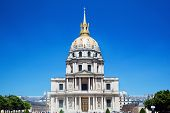 Hotel national des Invalides known as Les Invalides seen from Av de Tourvile in Paris, France