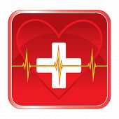 First Aid Medical Heart Health Symbol