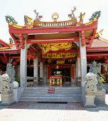 Asian Temple Entrance