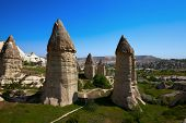 stock photo of goreme  - Fairy chimneys rock formations - JPG