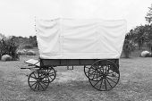 pic of covered wagon  - Black  - JPG