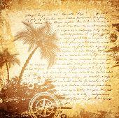 Old Travel Letter Background