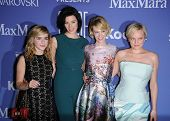 LOS ANGELES - JUN 12:  Kiernan Shipka, Jessica Pare, January Jones & Elisabeth Moss arrives to the W