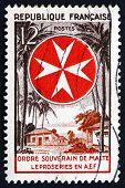 Postage Stamp France 1956 Leprosarium And Maltese Cross