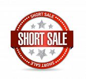 Short Sale Seal Stamp Illustration Design