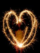 Heart-shape Light Trails