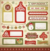 Christmas gift tags, labels & stickers