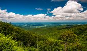 View Of Piedmont From Skyline Drive In Shenandoah National Park, Virginia.