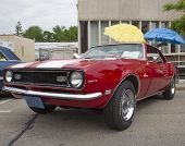 Red And White 1968 Chevy Camaro 327