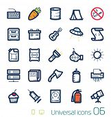 Universele icons set perfecte lijnen 06