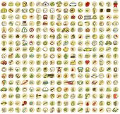 stock photo of food truck  - XXL Collection of 289 doodled icons for every occasion No - JPG