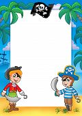 Frame With Pirate Boy And Girl