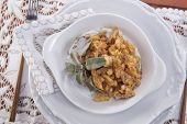 foto of tripe  - Dish Of Italian Cuisine Tripe Cooked With Tomato Sauce - JPG