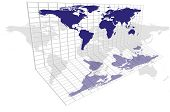 World Map Grid
