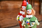 Wooden Toy Clowns