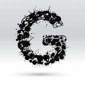 Letter G Formed By Inkblots