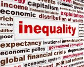 Inequality creative words concept