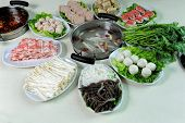 stock photo of chafing  - prepared and delicious Chinese chafing dish - JPG