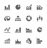 Graph und Diagramm-Icon-Set.