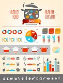 stock photo of hamburger  - Healthy Food Infographics - JPG