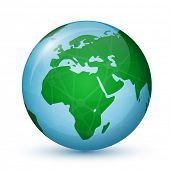 pic of earth structure  - World Globe Map  - JPG