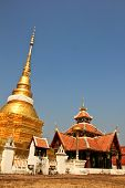 Wat Pong Sanook With Bluesky Background, Thailand