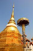Relic In Wat Pong Sanook At Lampang Thailand