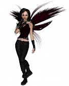 Urban Fairy Dressed in Black