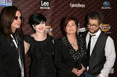 Ozzy Osbourne and Kelly Osbourne with Sharon Osbourne and Jack Osbourne at Spike Tv's 'Scream 2008'.