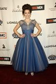 Crista Flanagan  at the live revue A Night On The Town With 'Mad Men'. El Rey Theater, Los Angeles,