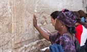 Jerusalem, Israel - March 14, 2006: Women Pray At The Wailing Wall.