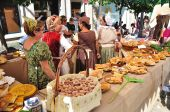 Stand Of Homemade Food In The Madieval Faires Of Pontevedra