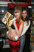 Faye Reagan and Georgia Jones  at the Girls and Corpses Hallowe'en Party and Autograph Signing, Meltdown Comics, Los Angeles, CA. 10-25-08