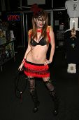 Faye Reagan  at the Girls and Corpses Hallowe'en Party and Autograph Signing, Meltdown Comics, Los A