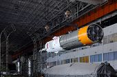 Soyuz Spacecraft In Integration Facility Building