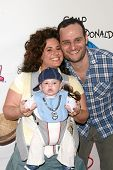 Marissa Jaret Winokur with Judah Miller and son Zev  at Camp Ronald McDonald's 16th Annual Family Ha