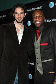 Pau Gasol and Lamar Odom  at the Launch Party for Blackberry Bold. Private Residence, Los Angeles, C